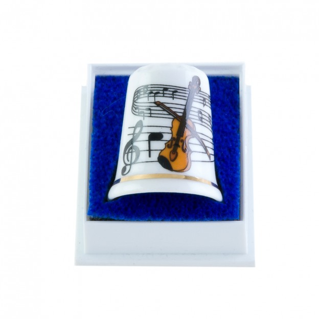 Dedal porcelana violín