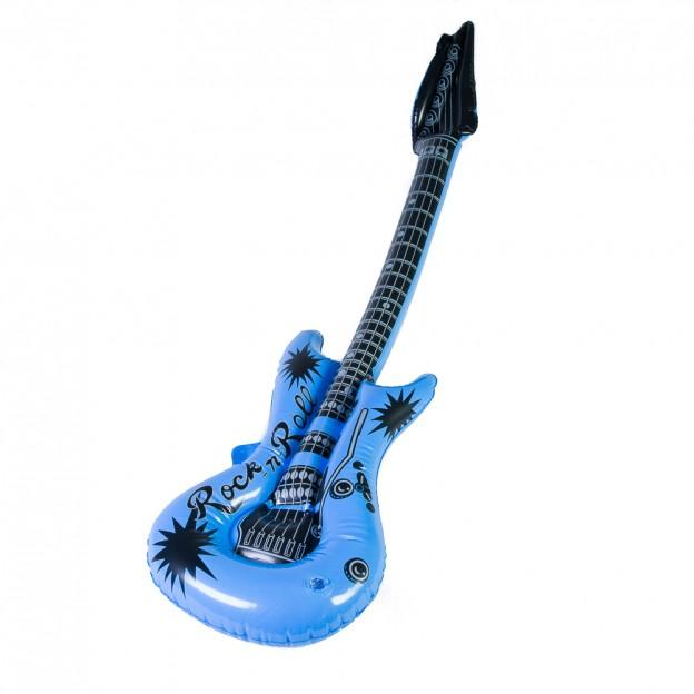 Guitarra eléctrica y saxo hinchables