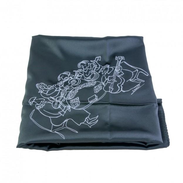 Pañuelo para cubrir violín con dibujo quinteto