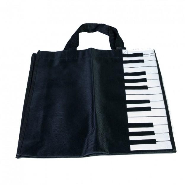 Bolsa negra teclado piano