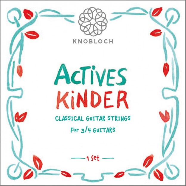 Cuerdas guitarra Knobloch Actives Kinder 300AKI Set Medium 3/4