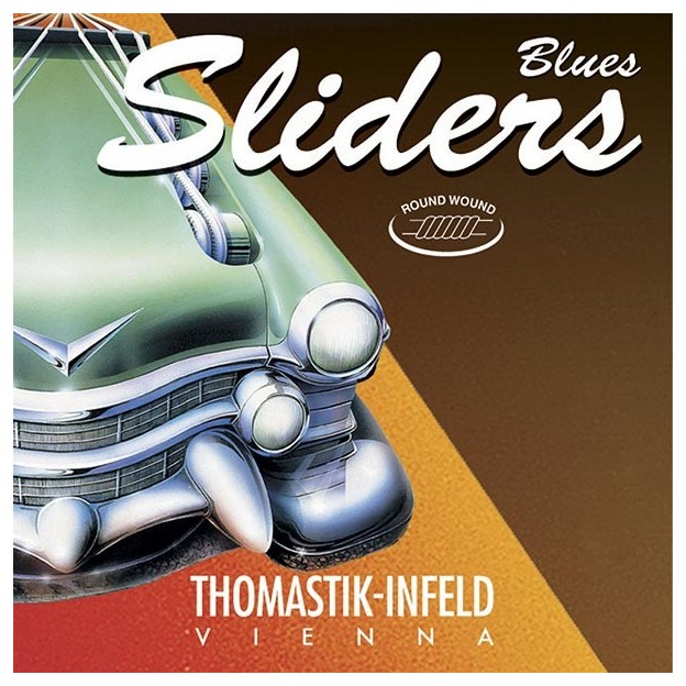 Cuerda guitarra eléctrica Thomastik Blues Sliders SL43 6ª Mi