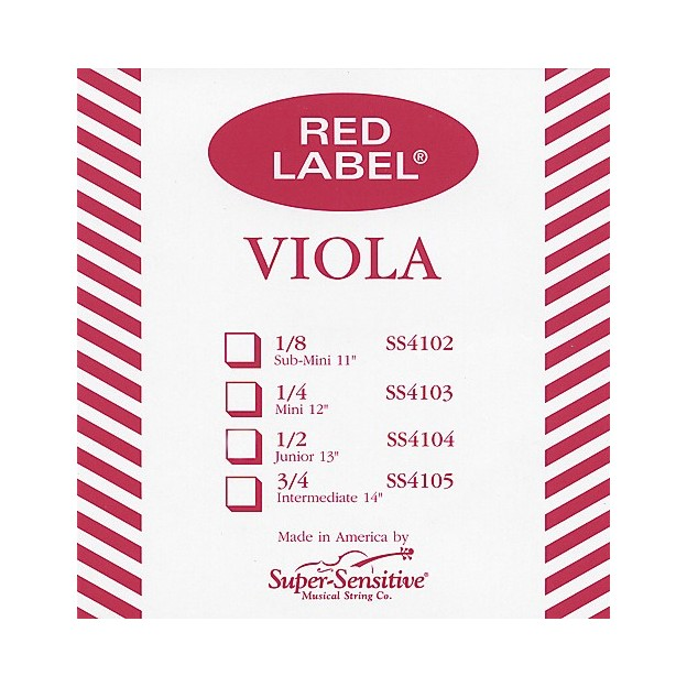 Cuerda viola Super-Sensitive Red Label 4137 3ª Sol