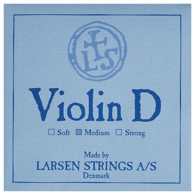 Cuerda violín Larsen 3ª Re plata Medium