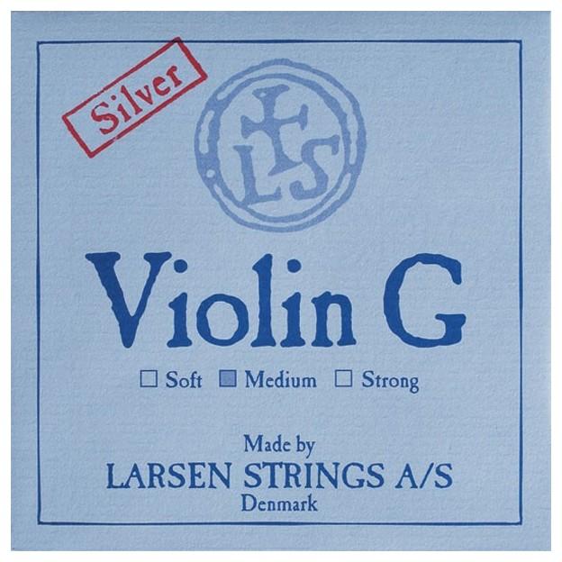 Cuerda violín Larsen 4ª Sol plata Medium