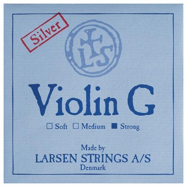 Cuerda violín Larsen 4ª Sol plata Strong