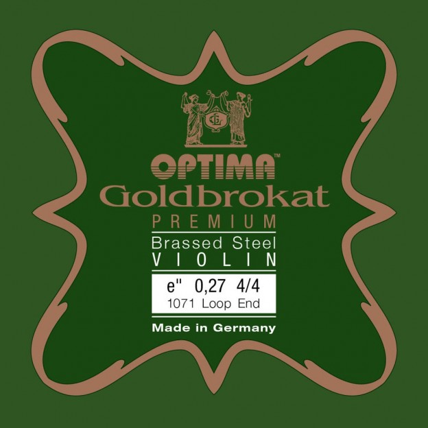 Cuerda violín Optima Goldbrokat Premium Brassed 1071 1ª Mi lazo 0.27 Strong