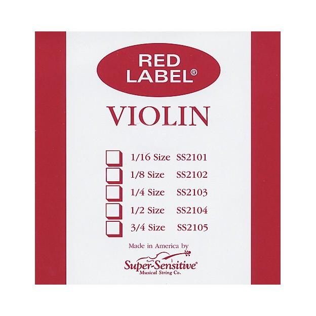 Cuerda violín Super-Sensitive Red Label 3ª Re  Medium