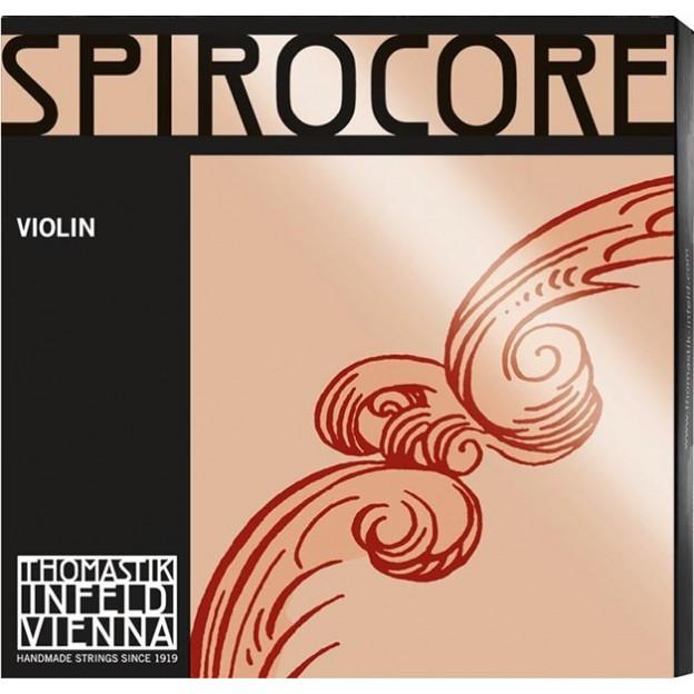 Cuerda violín Thomastik Spirocore S-8 1ª Mi Bola cromo Medium