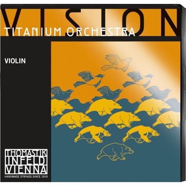 Cuerda violín Thomastik Vision Titanium Orchestra VIT01O 1ª Mi Bola Medium