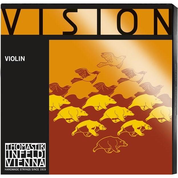 Cuerda violín Thomastik Vision VI03A 3ª Re plata Medium