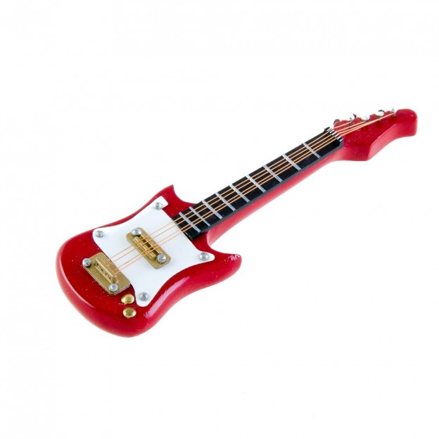 Imán guitarra eléctrica roja