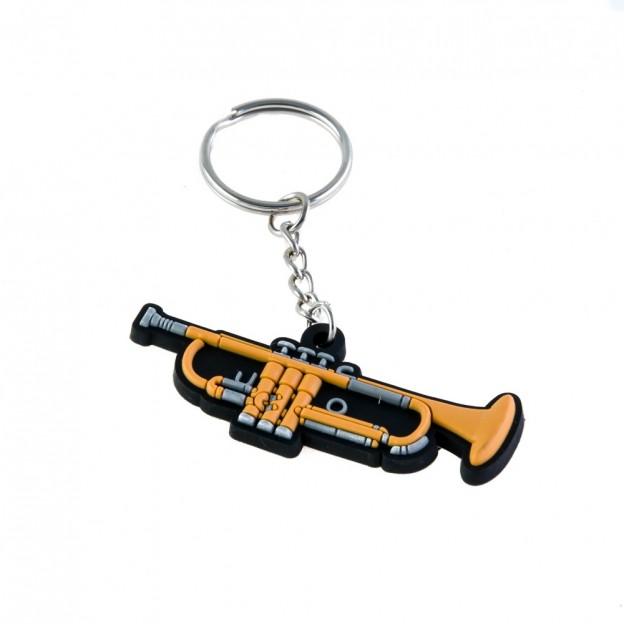 Llavero goma trompeta