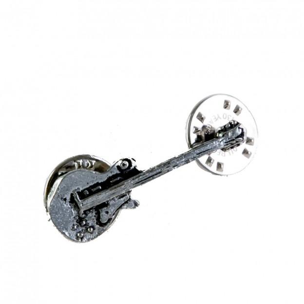 Pin guitarra eléctrica Gibson plateado