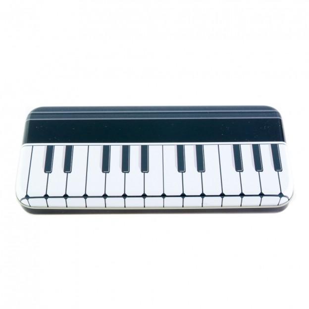 Plumier negro teclado piano