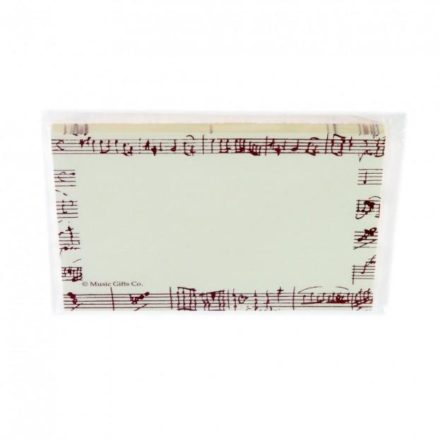 Post-it partitura Mozart