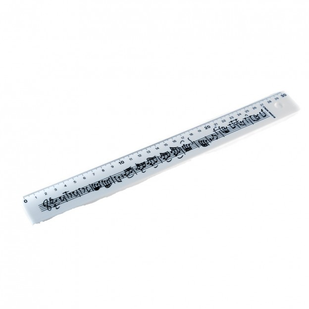 Regla blanca pentagrama 30 cm