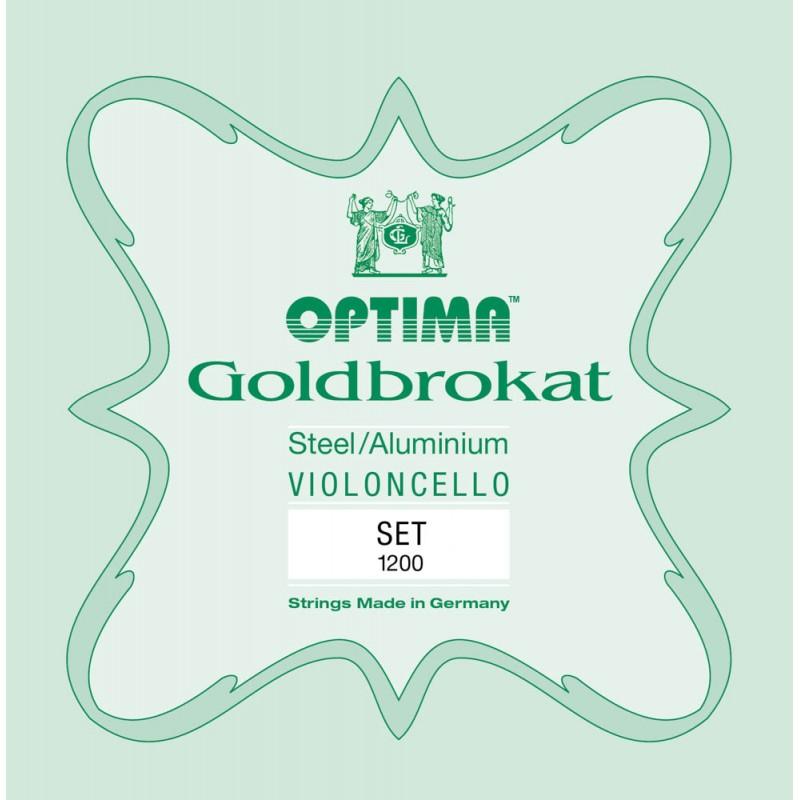 Cuerdas - Set de cuerdas cello Optima Goldbrokat 1200 Medium