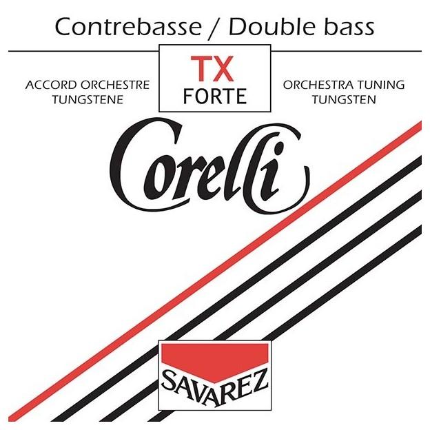 Set de cuerdas contrabajo Corelli tungsteno 370TX Forte