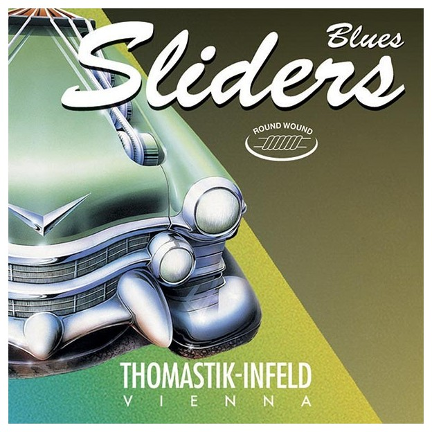 Set de cuerdas guitarra eléctrica Thomastik Blues Sliders SL110 medium light