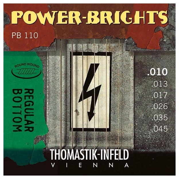 Set de cuerdas guitarra eléctrica Thomastik Power-brights PB110 medium-light