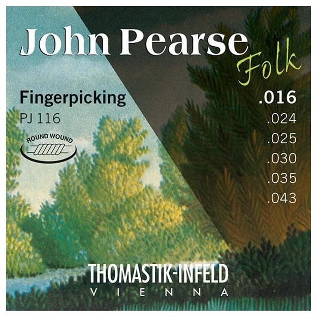 Set de cuerdas guitarra Thomastik John Pearse PJ116