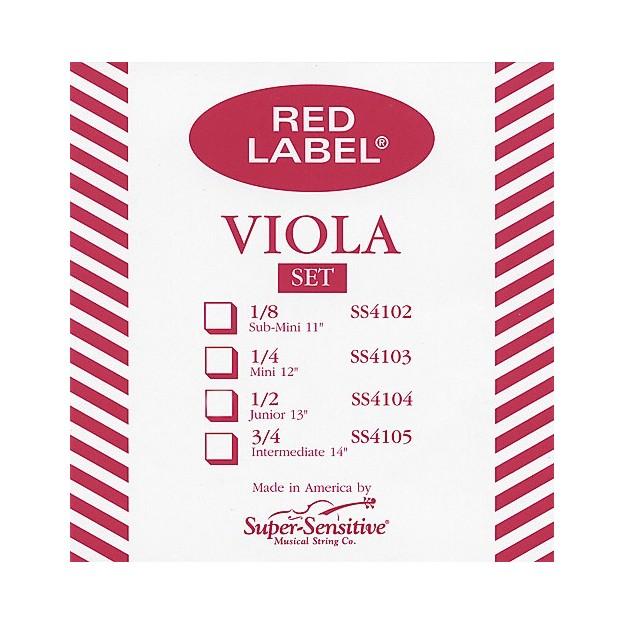 Set de cuerdas viola Super-Sensitive Red Label 4107