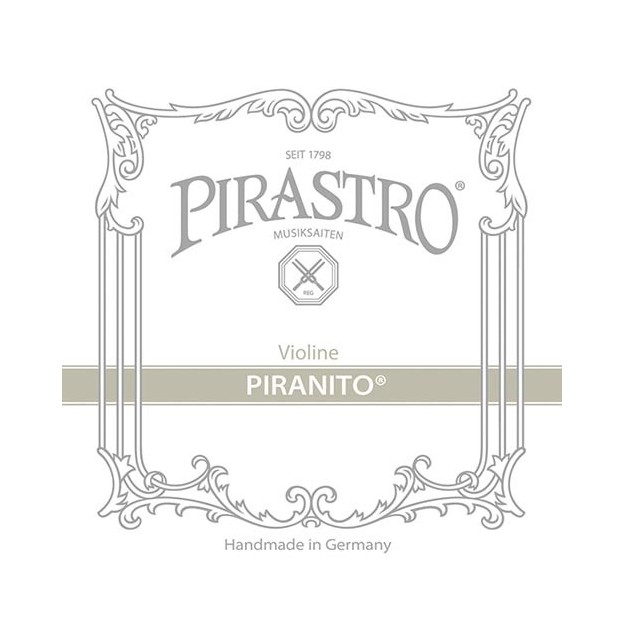 Set de cuerdas violín Pirastro Piranito 615000 Bola 2ª aluminio Medium