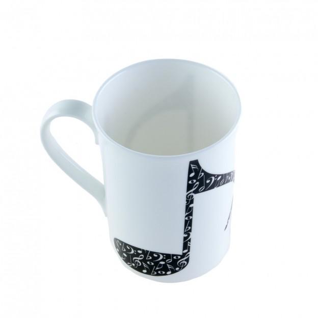 Taza porcelana corchea