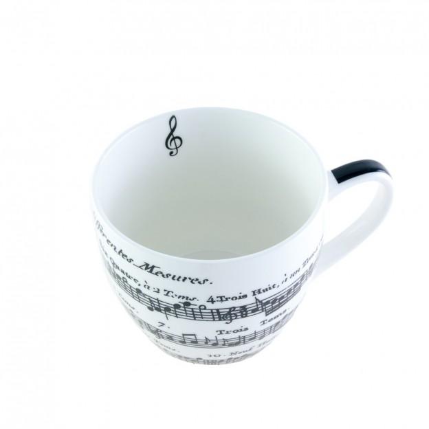 Taza porcelana partitura