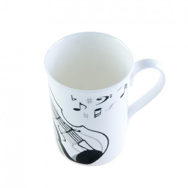 Taza porcelana violín