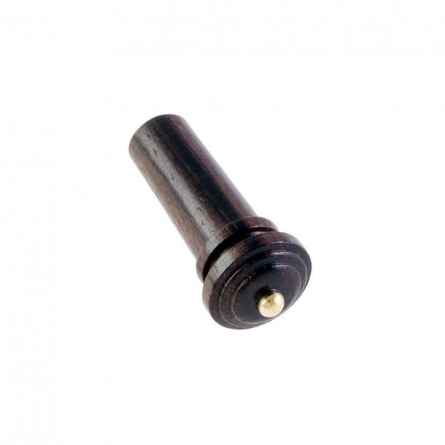 Botón violín palisandro modelo Hill pin dorado 4/4