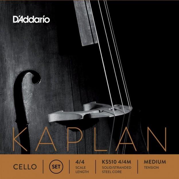 Set de cuerdas cello D'Addario Kaplan Solutions KS510 Medium