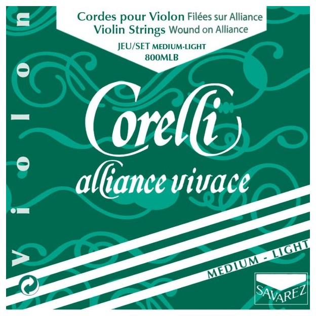 Set de cuerdas violín Corelli Alliance Vivace 800MLB Medium-Light