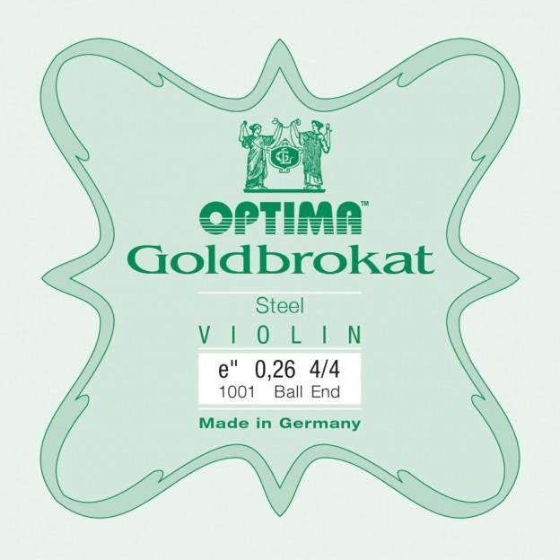 Cuerda violín Optima Goldbrokat 1001 1ª Mi Bola 0.26 Medium
