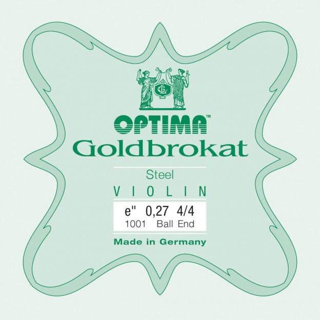 Cuerda violín Optima Goldbrokat 1001 1ª Mi Bola 0.27 Hard