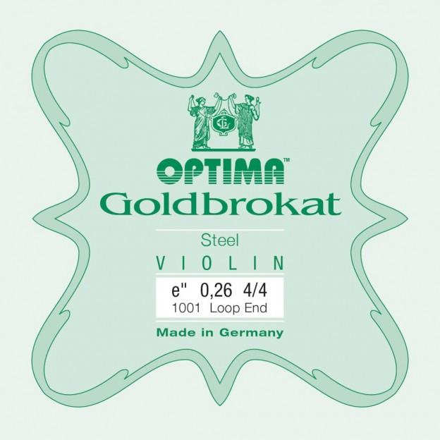 Cuerda violín Optima Goldbrokat 1001 1ª Mi lazo 0.26 Medium