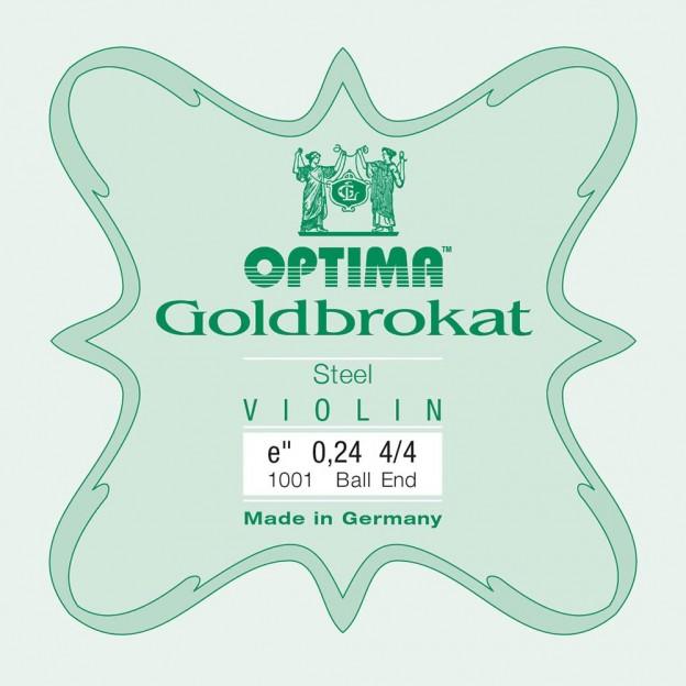 Cuerda violín Optima Goldbrokat 1001 1ª Mi Bola 0.24 Extra-light