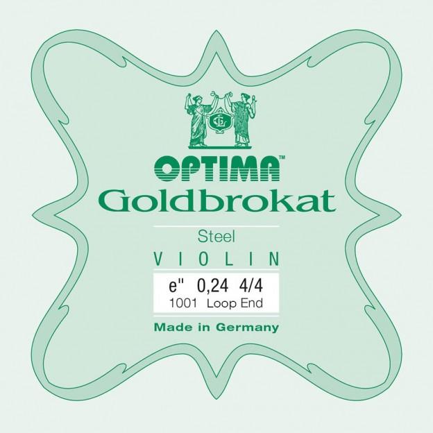 Cuerda violín Optima Goldbrokat 1001 1ª Mi lazo 0.24 Extra-light