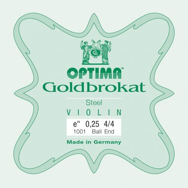 Cuerda violín Optima Goldbrokat 1001 1ª Mi Bola 0.25 Light
