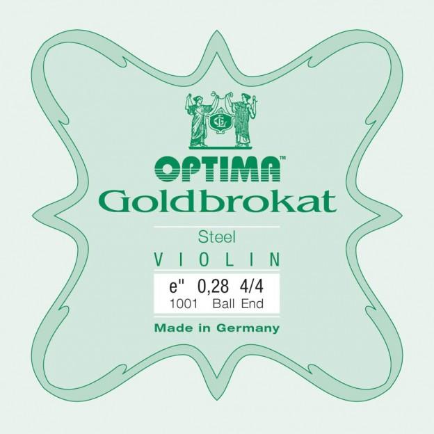 Cuerda violín Optima Goldbrokat 1001 1ª Mi Bola 0.28 Extra-hard