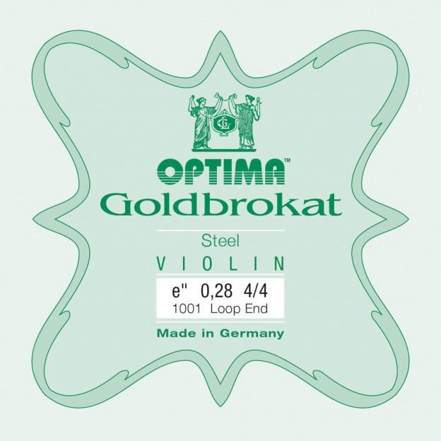 Cuerda violín Optima Goldbrokat 1001 1ª Mi lazo 0.28 Extra-hard