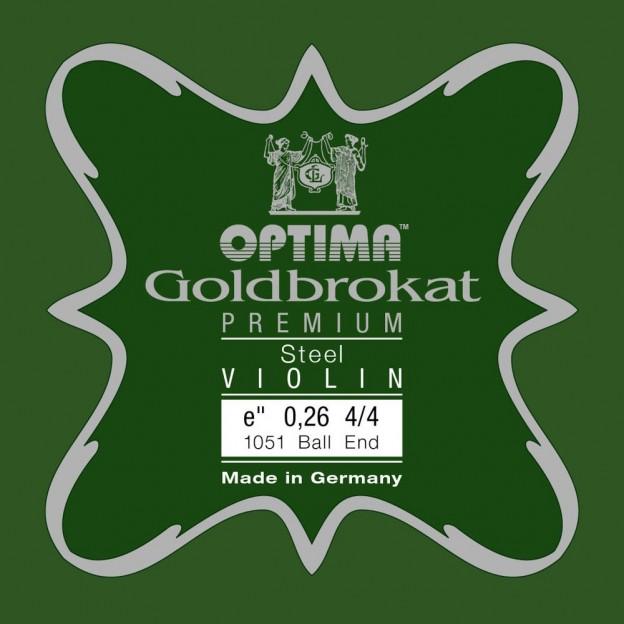 Cuerda violín Optima Goldbrokat Premium 1051 1ª Mi Bola 0.26 Medium