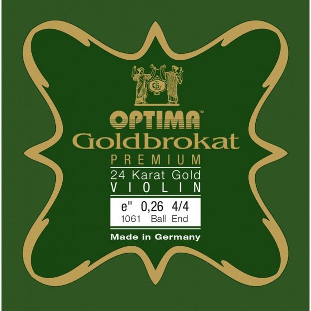 Cuerda violín Lenzner Goldbrokat Premium 24K Gold 1061 1ª Mi Bola 0.26 Medium