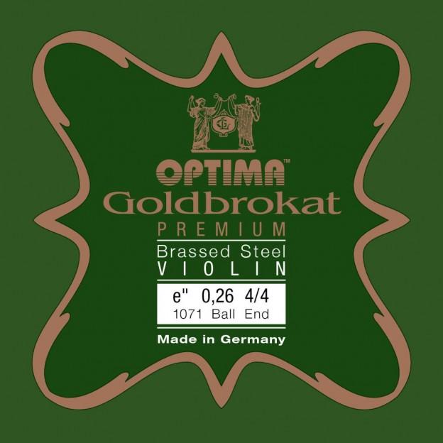 Cuerda violín Optima Goldbrokat Premium Brassed 1071 1ª Mi Bola 0.26 Medium