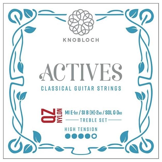 Cuerda guitarra Knobloch Actives Double Silver Nylon Q.Z. 501AQZ E1 High