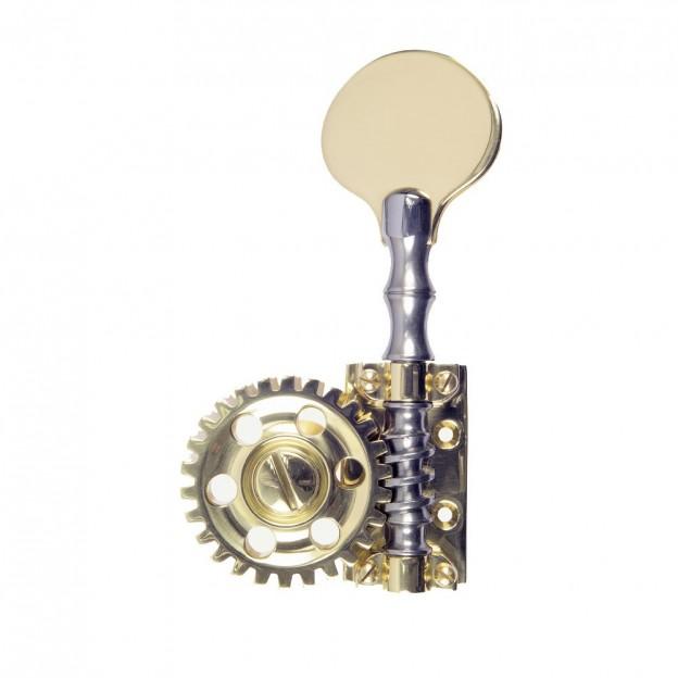 Clavijero para contrabajo Rubner con 4 piezas individuales 140-123-6-L dorado/plateado