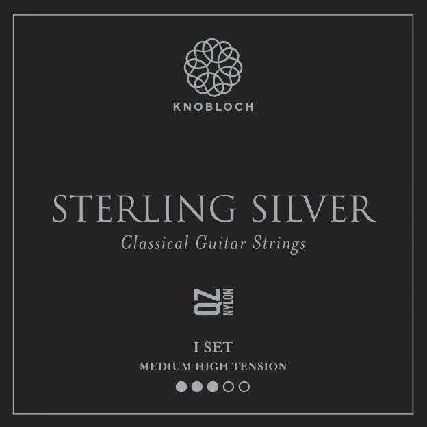 Set de cuerdas guitarra Knobloch Sterling Silver Nylon Q.Z. 400SSQ Medium High