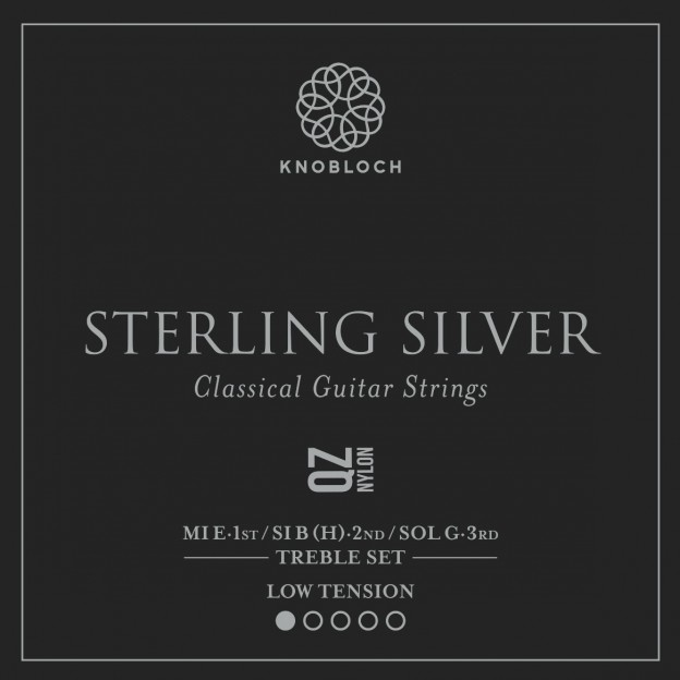 Set de primas guitarra Knobloch Sterling Silver Nylon Q.Z. 200SQZ Low