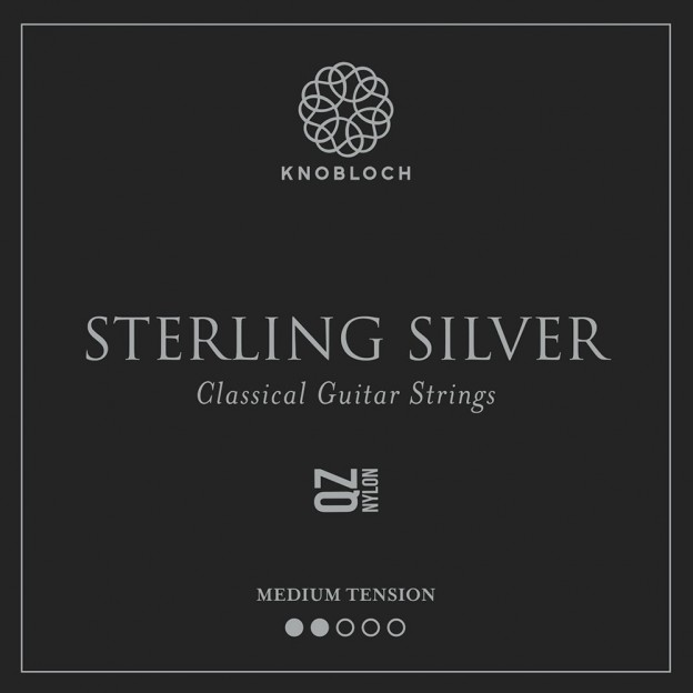 Set de primas guitarra Knobloch Sterling Silver Nylon Q.Z. 300SQZ Medium